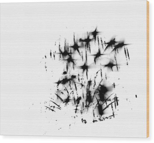 Firework Abstract 7 Wood Print