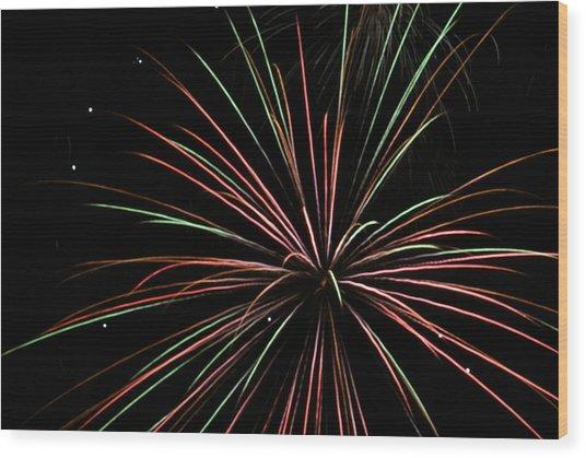 Fireworks 2 Wood Print