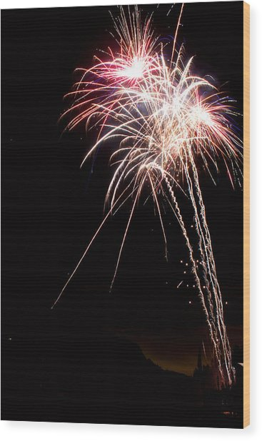Fireworks 70 Wood Print by James BO  Insogna