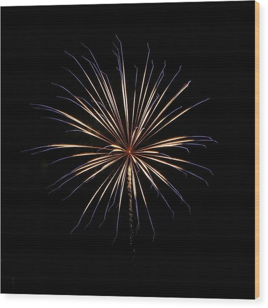 Fireworks From A Boat - 1 Wood Print