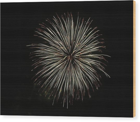 Fireworks From A Boat - 2 Wood Print