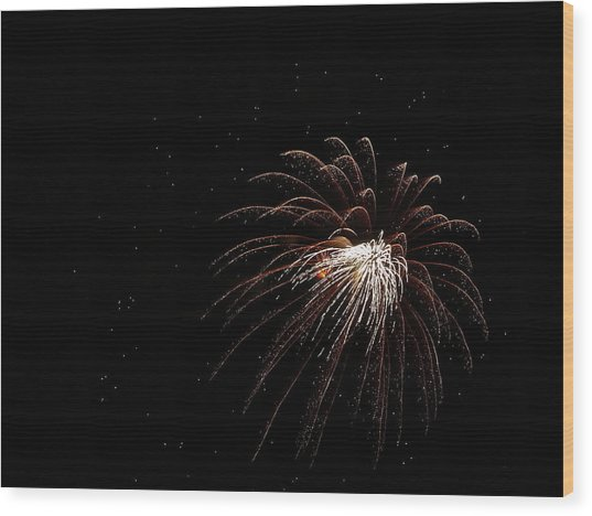 Fireworks From A Boat - 3 Wood Print