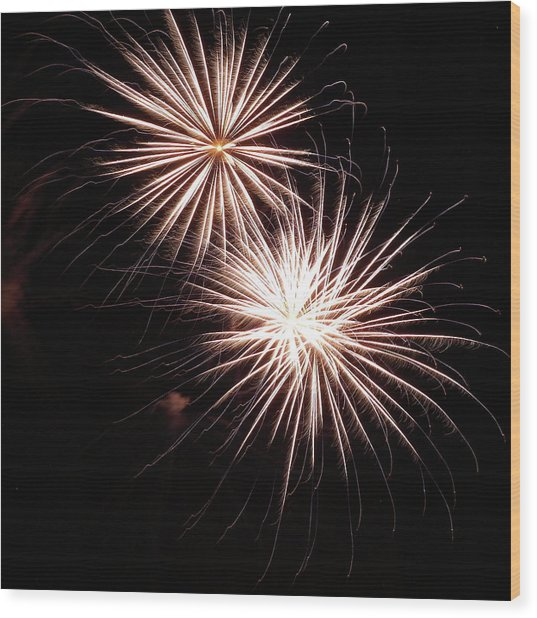 Fireworks From A Boat - 5 Wood Print