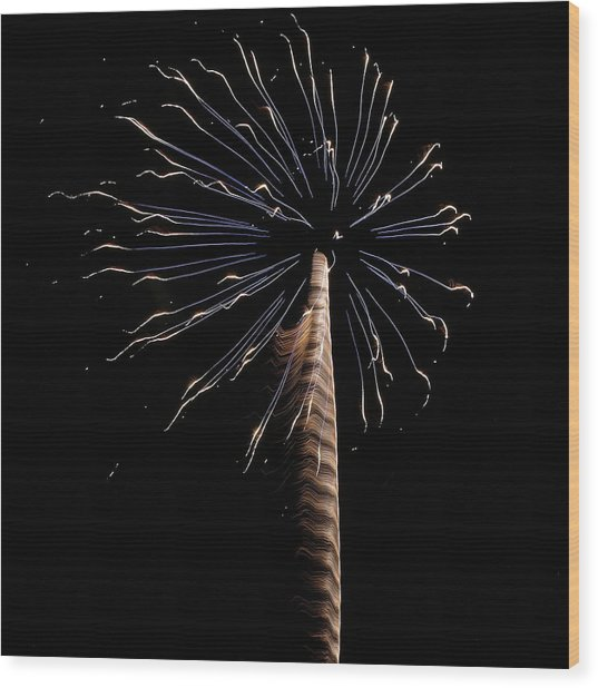 Fireworks From A Boat - 6 Wood Print