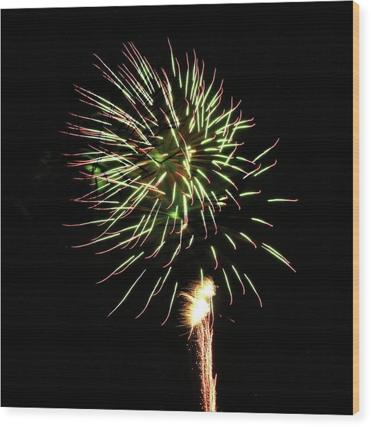 Fireworks From A Boat - 8 Wood Print