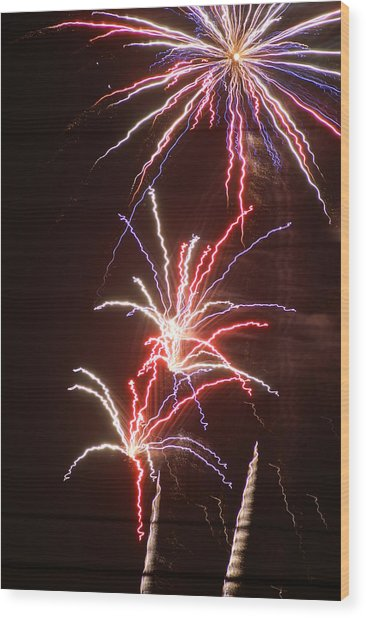 Fireworks Wood Print by Heather Green