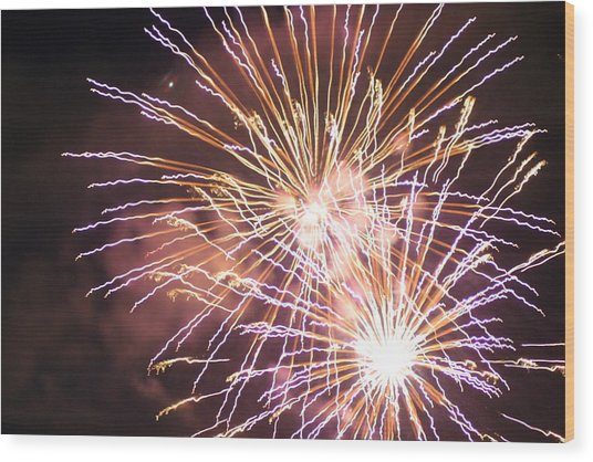 Fireworks In The Park 3 Wood Print