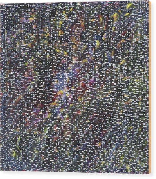 Fireworks Wood Print by Joan De Bot