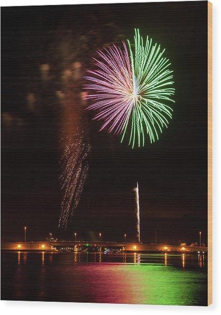 Fireworks Over Grand Lagoon Wood Print