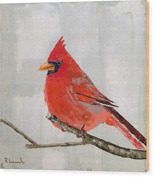 Firey Red Wood Print