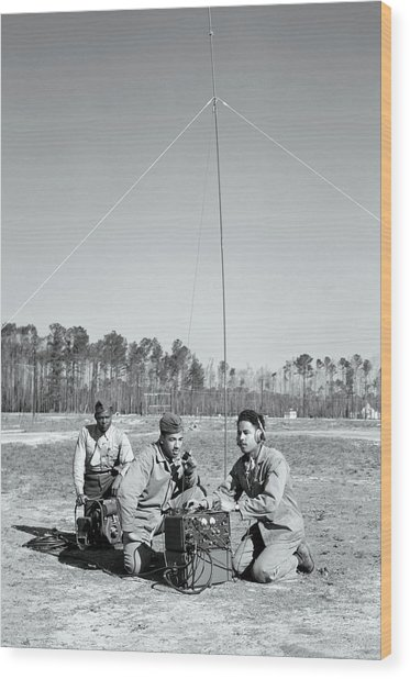 First African American United States Marines 1942 Wood Print