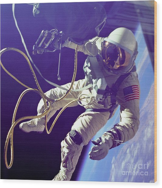 First American Walking In Space, Edward Wood Print