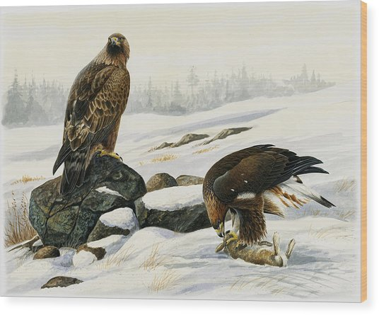 First Catch Wood Print by Dag Peterson
