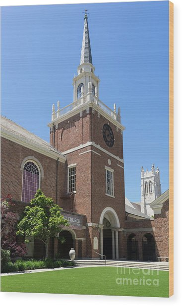 First Congregational Church Of Berkeley California Dsc6220 Wood Print