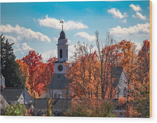 First Congregational Church Of Southampton Wood Print