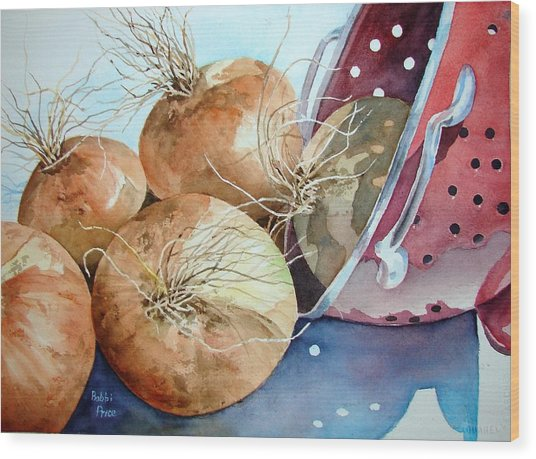 First Harvest Wood Print by Bobbi Price