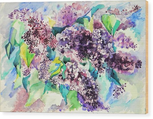 First Lilac. Wood Print by Anastasia Michaels