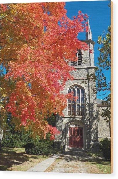 First Parish Unitarian Church Wood Print