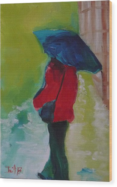 First Rain Wood Print by Irit Bourla