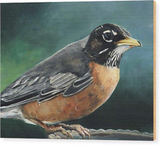First Robin Wood Print