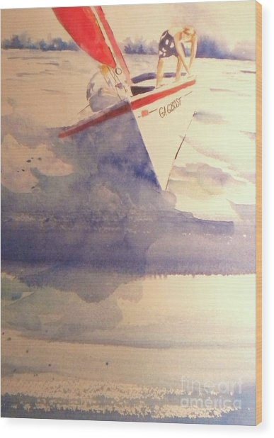 First Sailing Lesson Wood Print