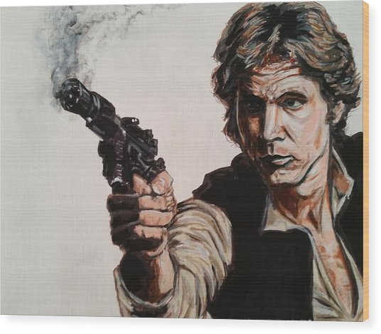 First Shot - Han Solo Wood Print