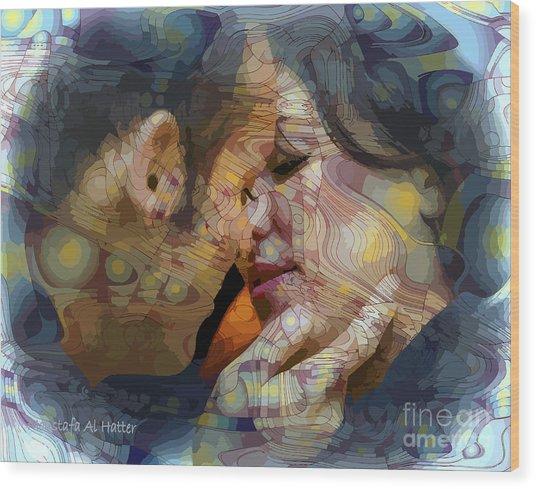 First Kiss Wood Print