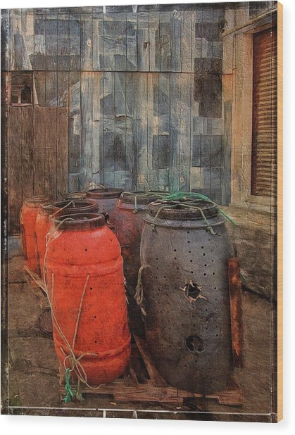 Wood Print featuring the photograph Fish Barrels by Thom Zehrfeld