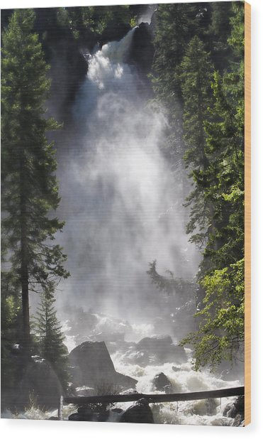 Fish Creek Falls Wood Print