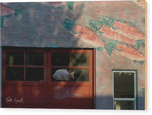 Fish Door Wood Print