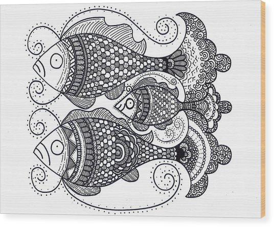 Fish Family Wood Print