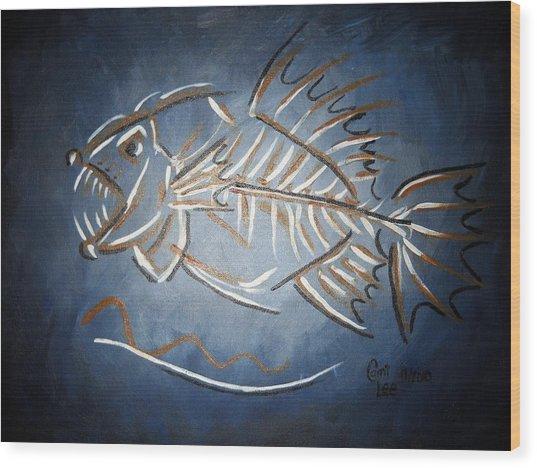 Fish Head Wood Print