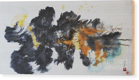 Fish In Stream 12030015fy Wood Print