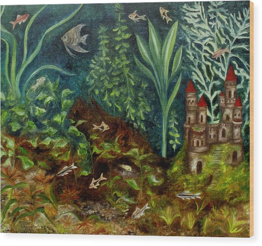 Fish Kingdom Wood Print