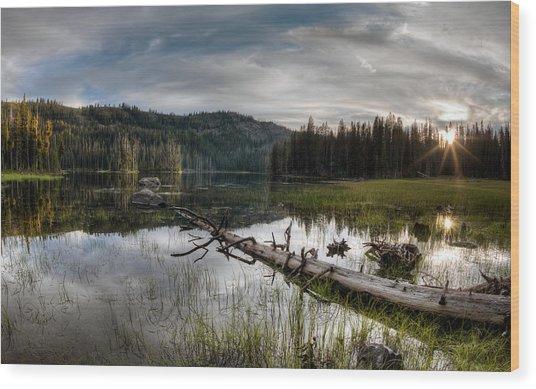 Fish Lake Evening Wood Print by Leland D Howard