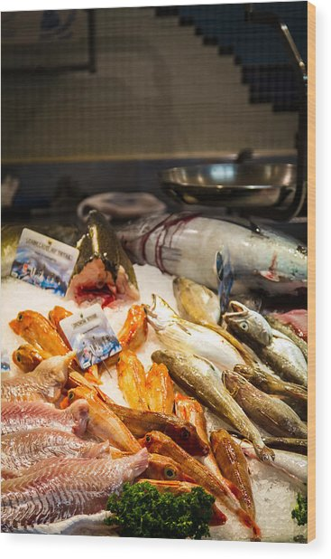 Wood Print featuring the photograph Fish Market by Jason Smith