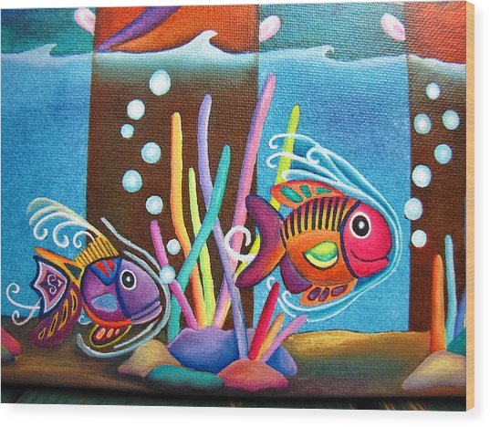 Fish On Parade Two Wood Print