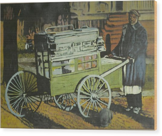 Fish Peddler Wood Print by Perry Ashe
