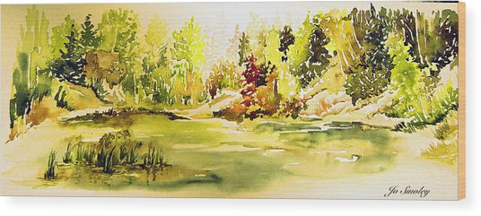 Fish Pond At Nutimik Lake Manitoba Wood Print