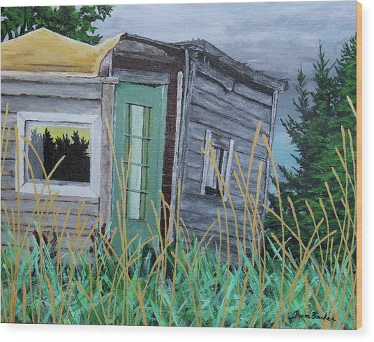 Fish Shack Wood Print