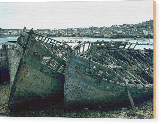 Fisher Boats Wood Print