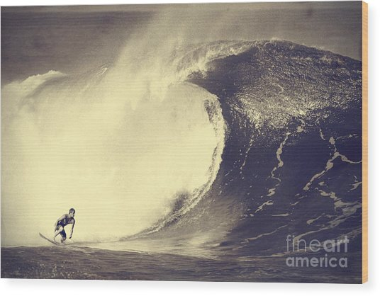 Fisher Heverly At Pipeline Wood Print