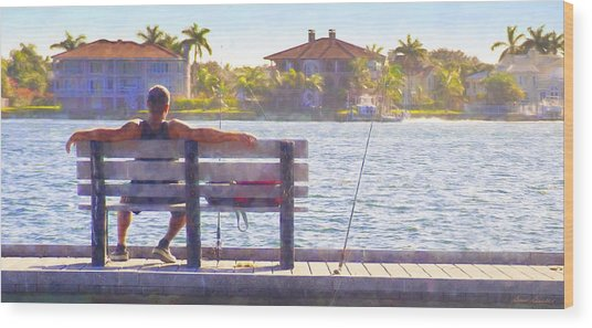 Fisherman Pass A Grille Florida Wood Print