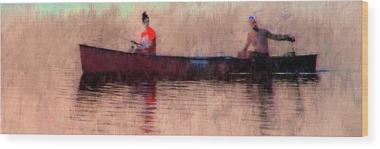 Fisherman Wood Print