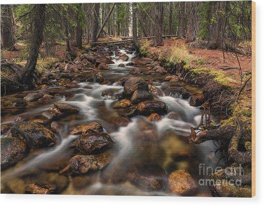 Fishhook Creek Waterscape Art By Kaylyn Franks Wood Print
