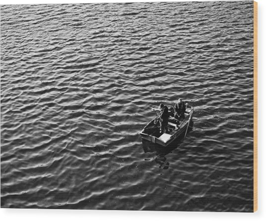 Wood Print featuring the photograph Fishing by Adrian Pym