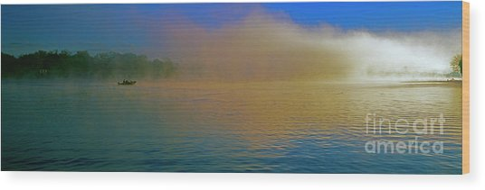 Fishing Boat Day Break  Wood Print