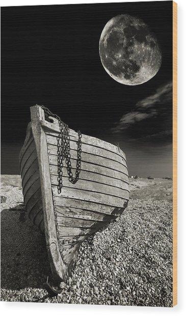 Fishing Boat Graveyard 3 Wood Print