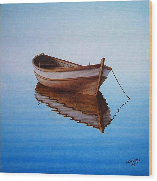 Fishing Boat I Wood Print