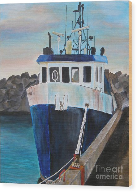 Fishing Boat  Wood Print by Jo Baby